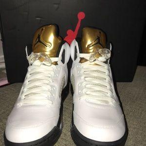 Jordan Shoes - AIR JORDAN RETRO 5 Olympic Gold Size 9 NIB